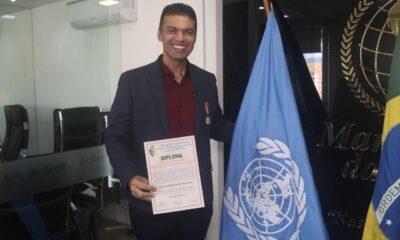 Martinelly Santos é Condecorado pela ONU
