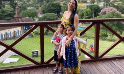 Layse Cohen com os filhos gêmeos - Foto Acervo Pessoal