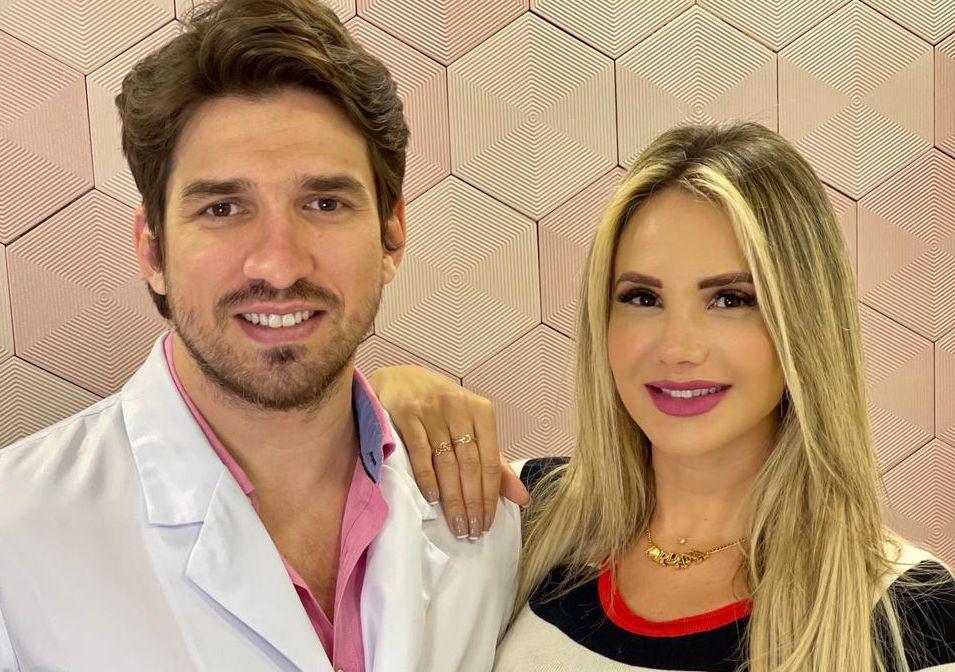 Dr Sérgio Furtado e Jordana Guimarães - Foto RL Assessoria