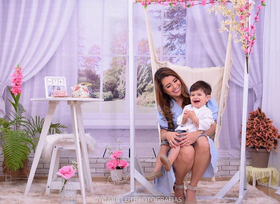 Kerolen Sarkis e o filho Luis Alberto - Foto Yoara Leite / @pcbeccbnews - Divulgação